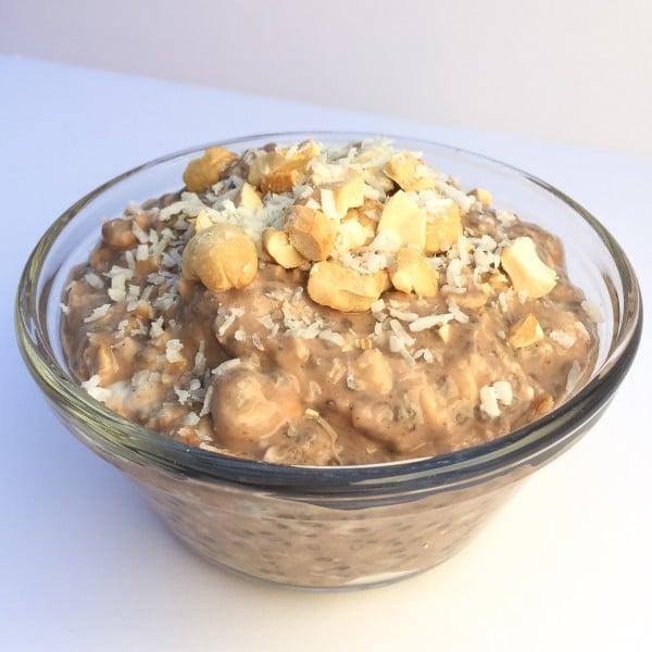 Choc cashew overnight oats 5