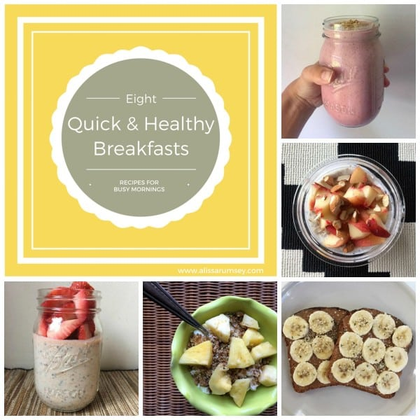 8 Quick and Healthy breakfasts pinterest