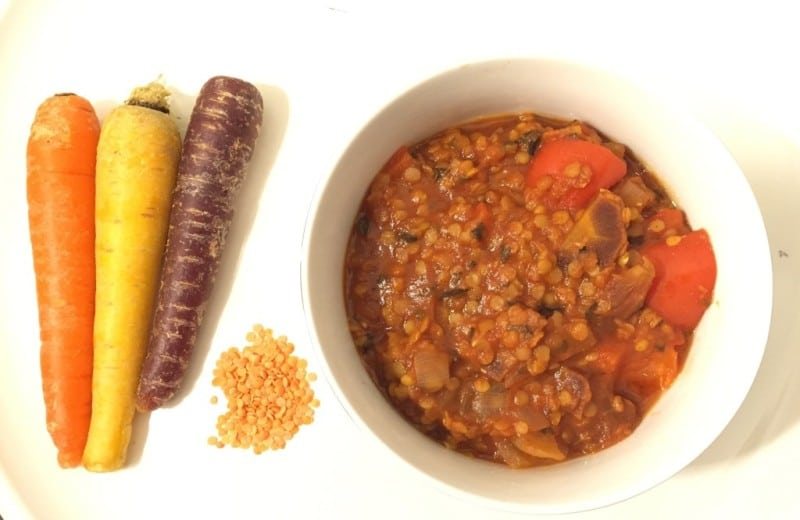 Carrot red lentil stew