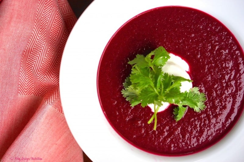 Moroccan spiced beet soup