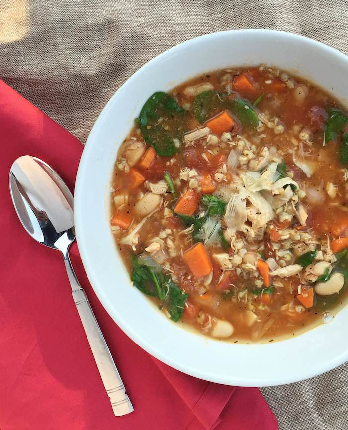 tuscan chicken sorghum soup