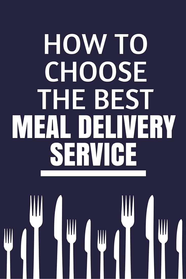 How to choose the best meal delivery service