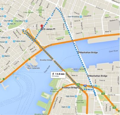 Brooklyn Manhattan bridge run new york city