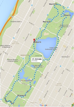 Central park outer loop run new york city
