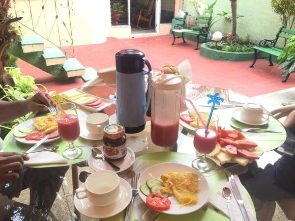 Breakfast in Cuba