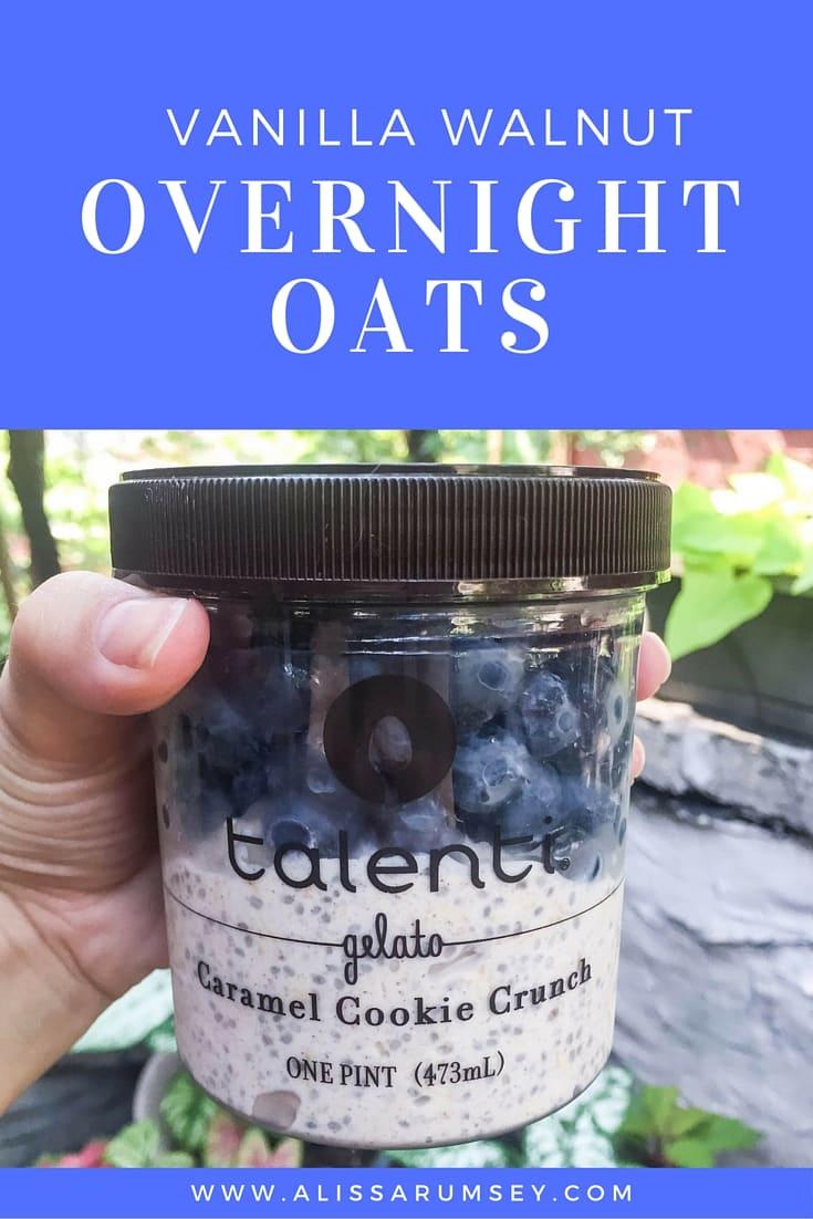 Vanilla walnut overnight oats