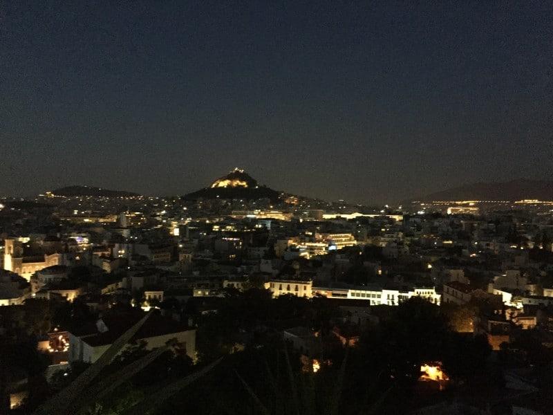 Athens Greece at night