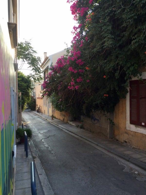 Plaka neighborhood Athens Greece
