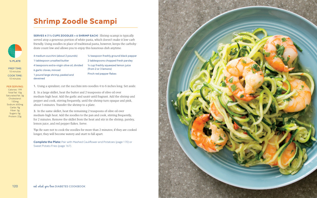 Eat What You Love Cookbook Recipe: Shrimp Zoodle Scampi
