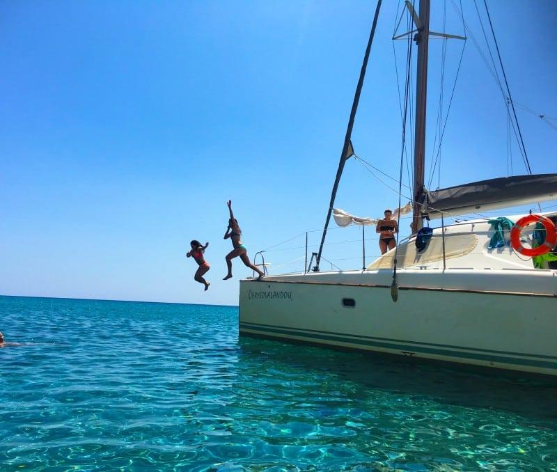 Milos boat Greece