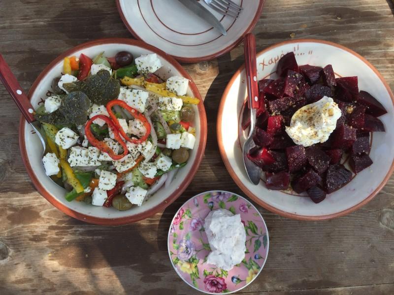 Greek lunch in Milos