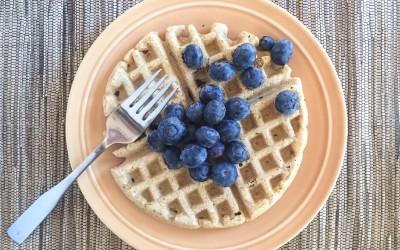 Whole Wheat Blueberry Lemon Waffles