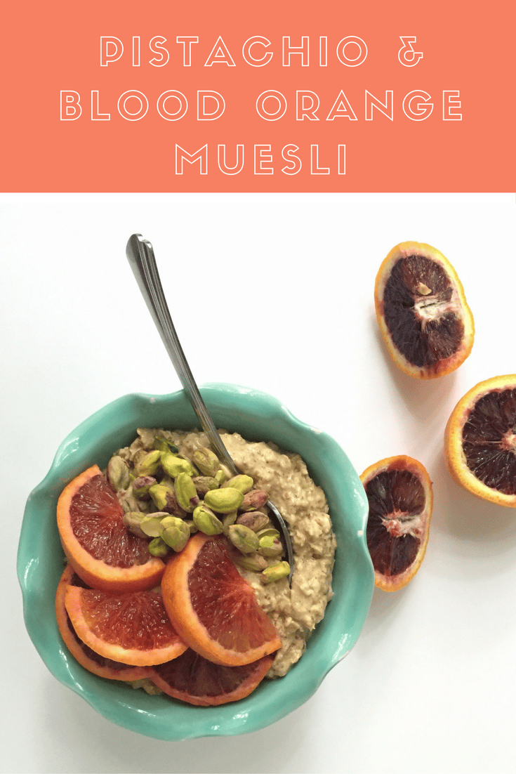 pistachio-and-blood-orange-muesli recipe