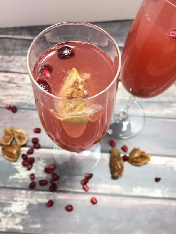 Healthy Holiday Cocktails Fig Fizz
