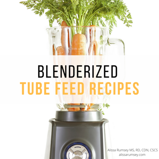 Blenderized tube feed recipes