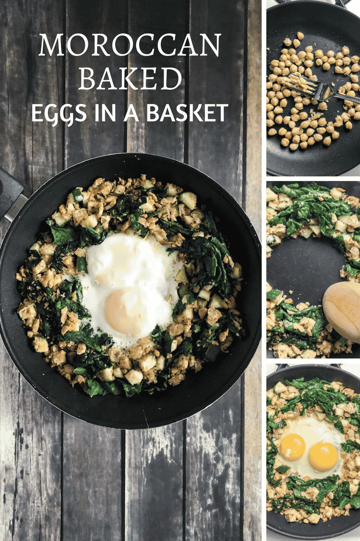 Moroccan Baked Eggs in a Basket recipe