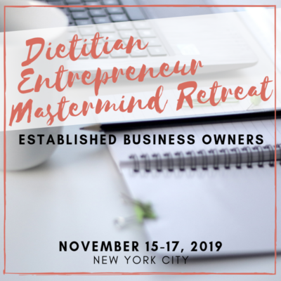established dietitian entrepreneur retreat