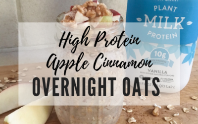 High-Protein Apple Cinnamon Overnight Oats