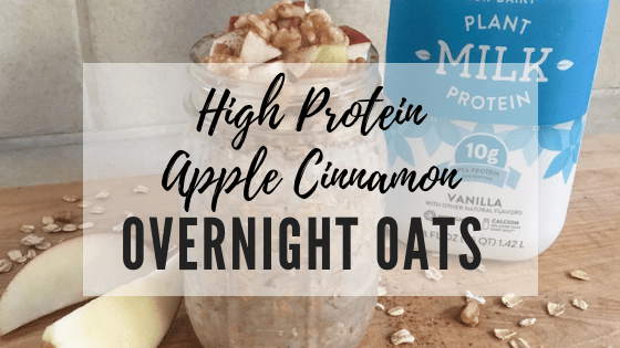 High-Protein Apple Cinnamon Overnight Oats