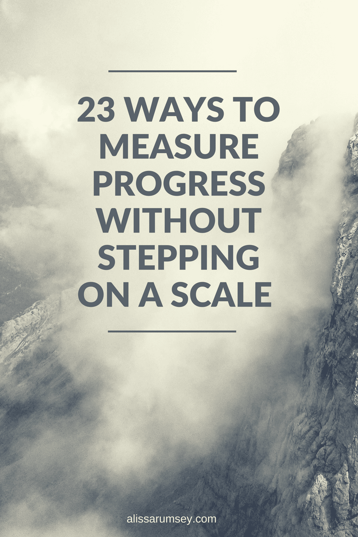 ways to measure progress that aren't weight loss