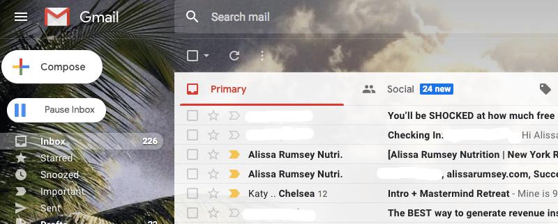 inbox pause productivity