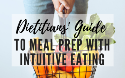 Meal Planning with Intuitive Eating: A How-To Guide