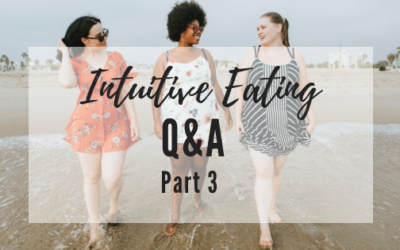 Intuitive Eating Q&A: Part 3