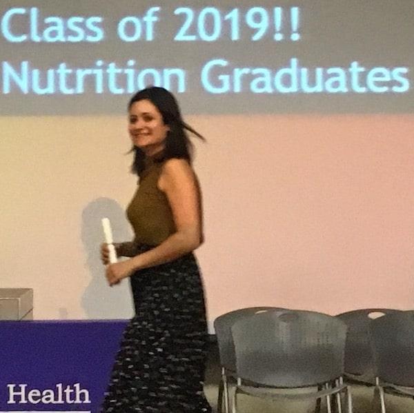 Nutrition graduation katy zanville