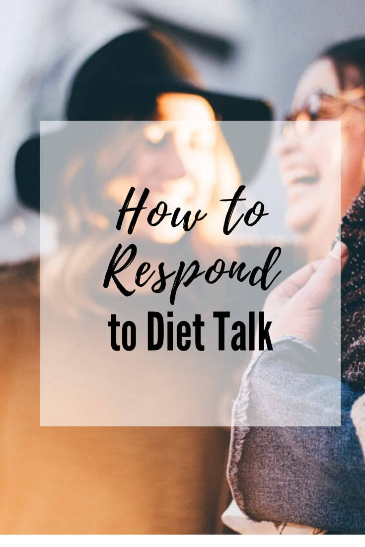 how to talk about your diet